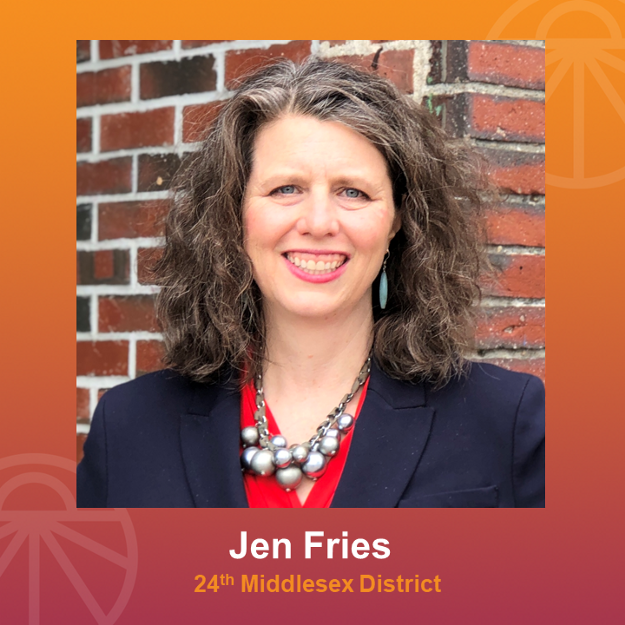 Jen Fries with Sunrise logo